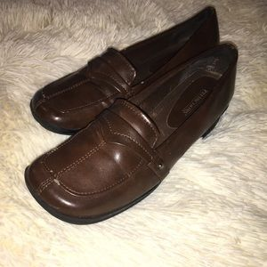 Predictions Shiny Brown Leather Loafers